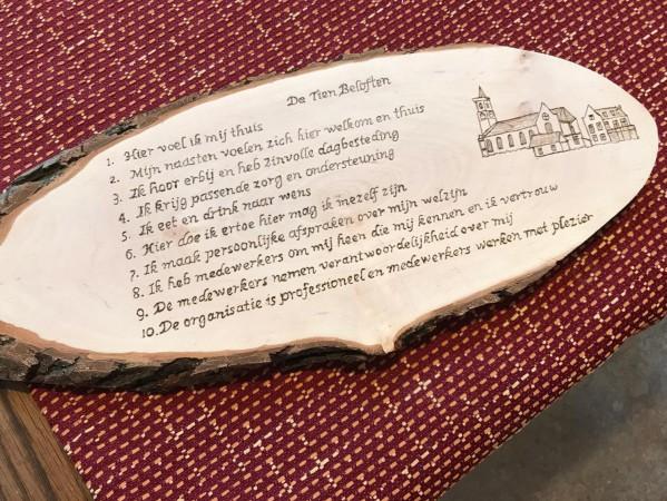 10 Klantbeloften in hout