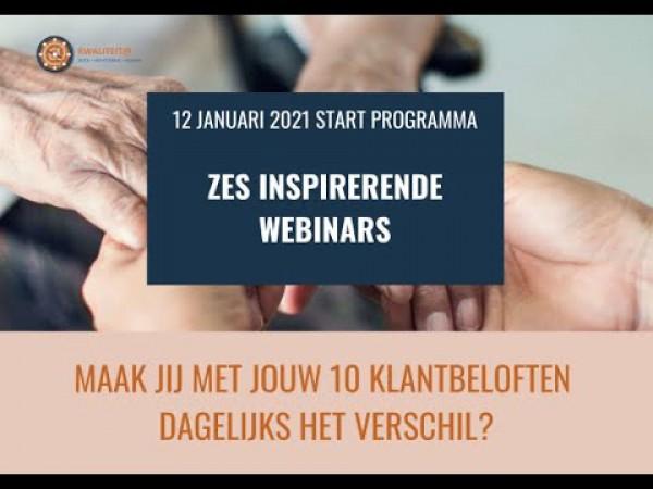Webinars Kwaliteit@ - 10 klantbeloften